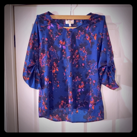 Collective Concepts Tops - Collective Concepts Orchid Pattern Blouse